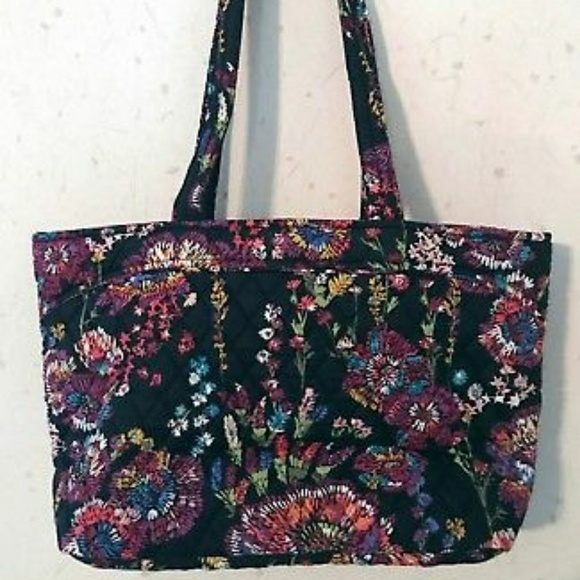 f50f665069 NWT VERA BRADLEY MANDY IN MIDNIGHT WILDFLOWERS